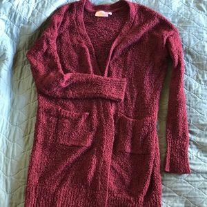 Rd style burgundy cardigan w pockets stitch fix